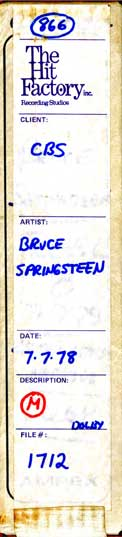 Bruce Springsteen & The E Street Band 7/7/78 The Roxy, Hollwyood, CA
